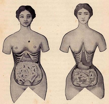corset modelator efecte organe